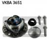 VKBA 3651 Ступица колеса с подшипником OPEL 1603254 SKF